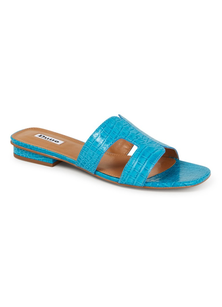 Dune London - Loupe slipper van leer - Turquoise