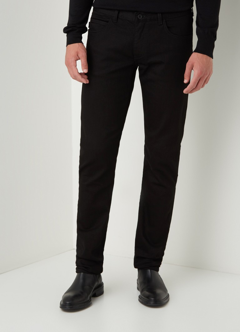 Emporio Armani - Straight fit jeans met stretch - Zwart
