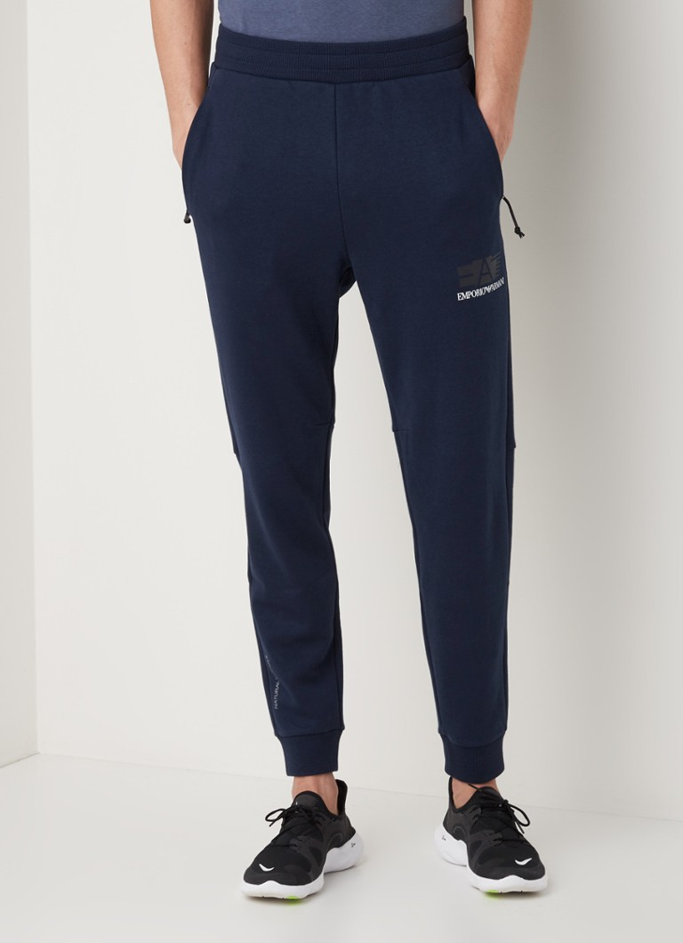 Emporio Armani - Tapered fit trainginsbroek  - Donkerblauw