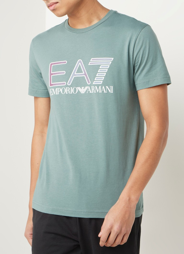 Emporio Armani - Trainings T-shirt met logoprint - Groen