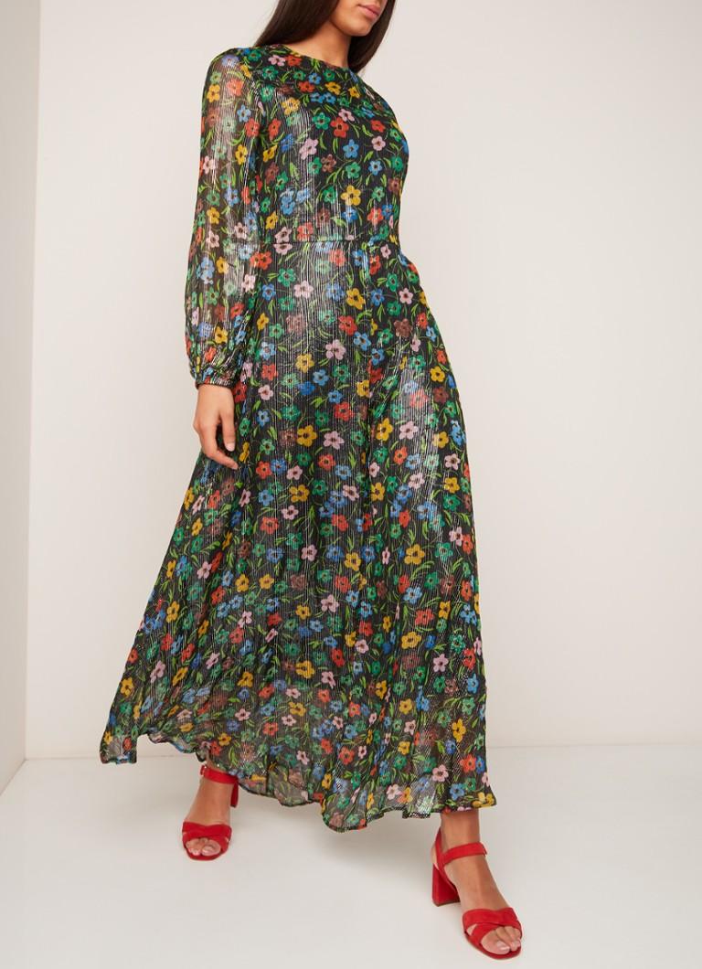 c9d7a737c5e ESSENTIEL ANTWERP Sharkeisha maxi-jurk met bloemendessin en lurex ...