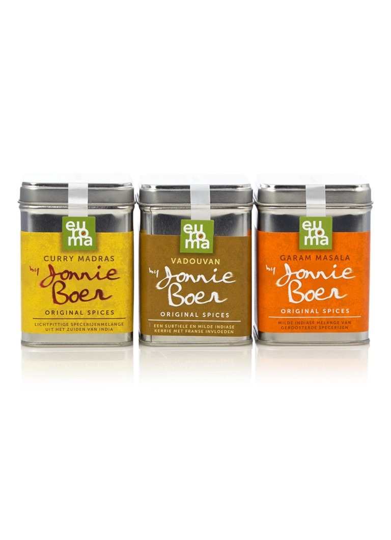 Euroma - Indian Spices by Jonnie Boer set van 3 - Multicolor