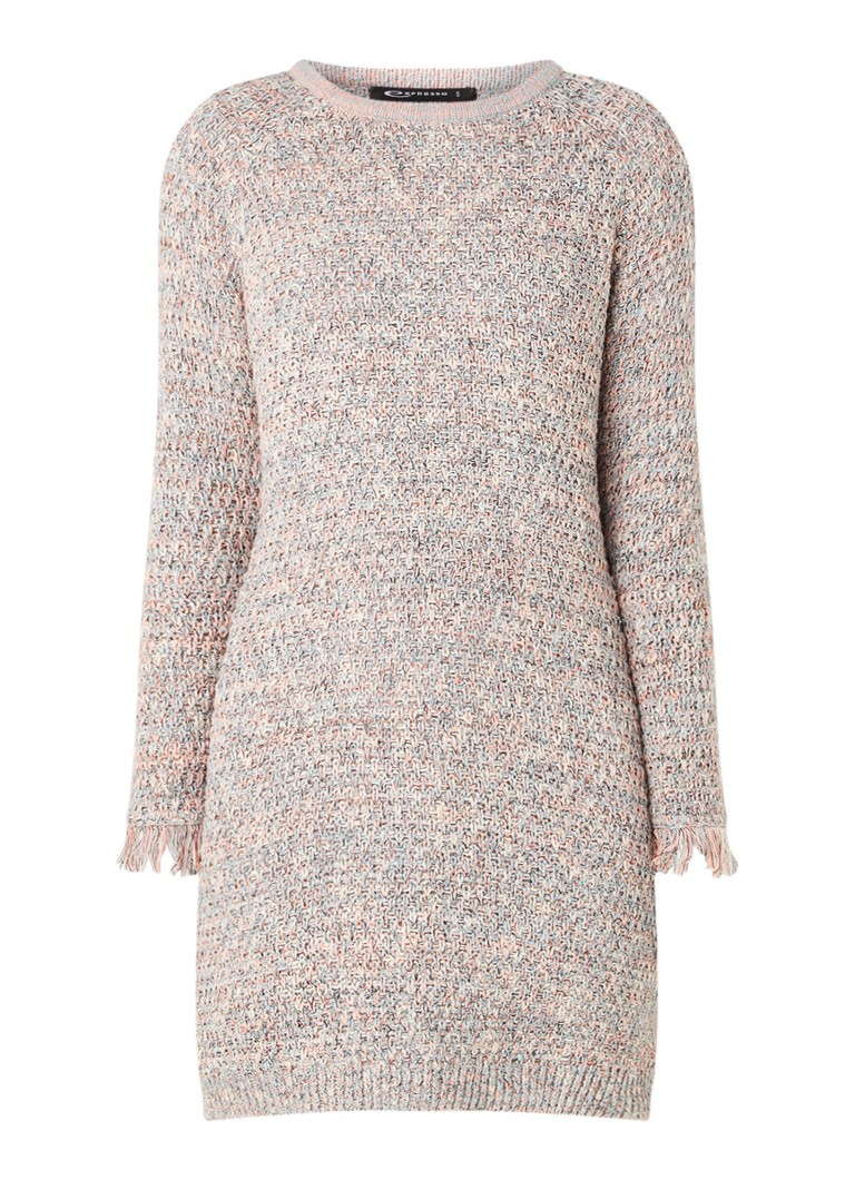 Verbazingwekkend Expresso Adeen grofgebreide trui-jurk met lurex • Grijs • de Bijenkorf YI-63