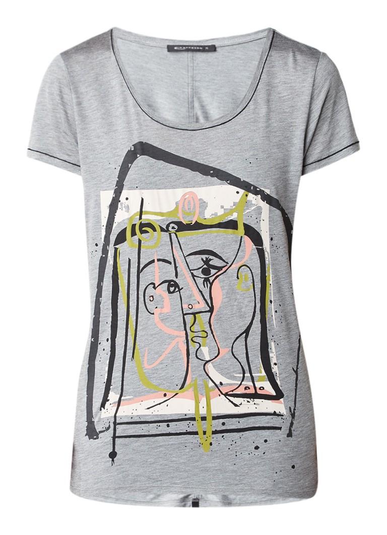 Expresso boukje t shirt met print de bijenkorf for T shirt print express