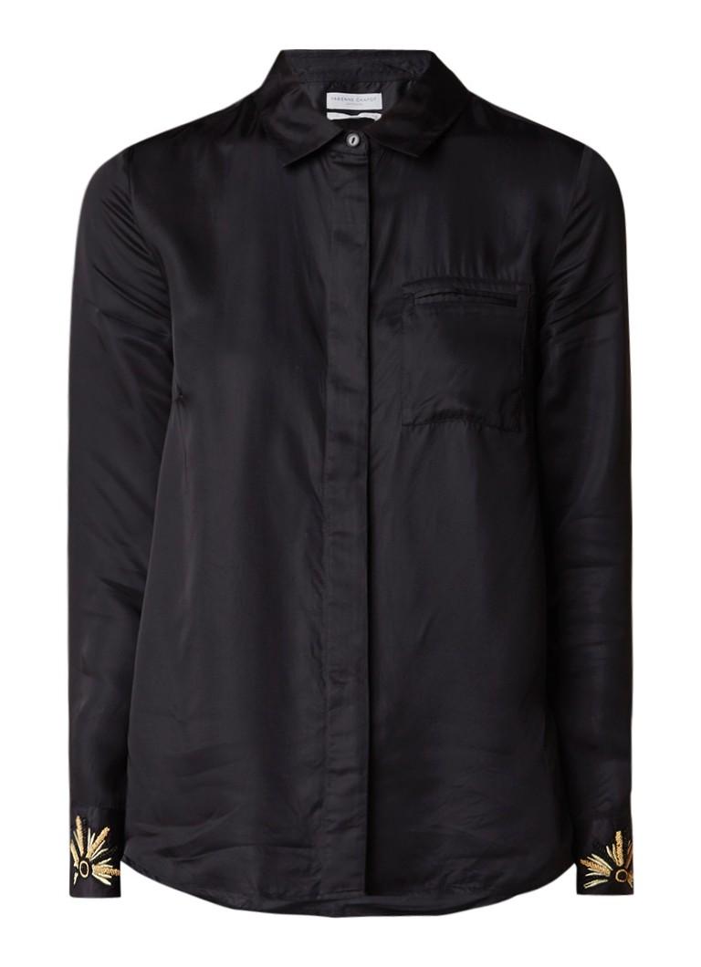 Fabienne chapot moon blouse met borstzak de bijenkorf for Mens dress shirts with cufflink holes