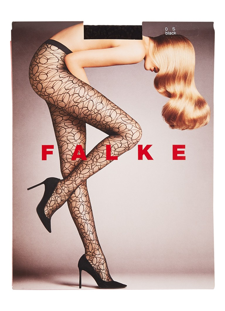 Falke - Grafitti Scratch panty in 15 denier - Zwart