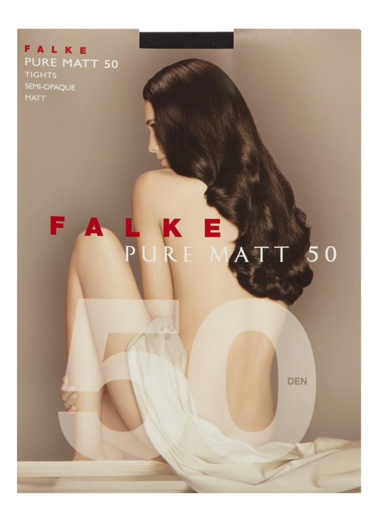 Falke - Pure Matt panty in 50 denier antraciet - Antraciet