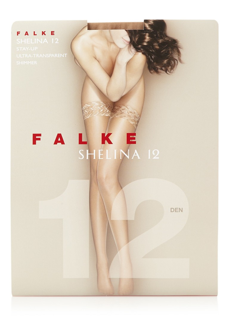 Falke - Shelina stay-ups in 12 denier brasil - Donkerbeige