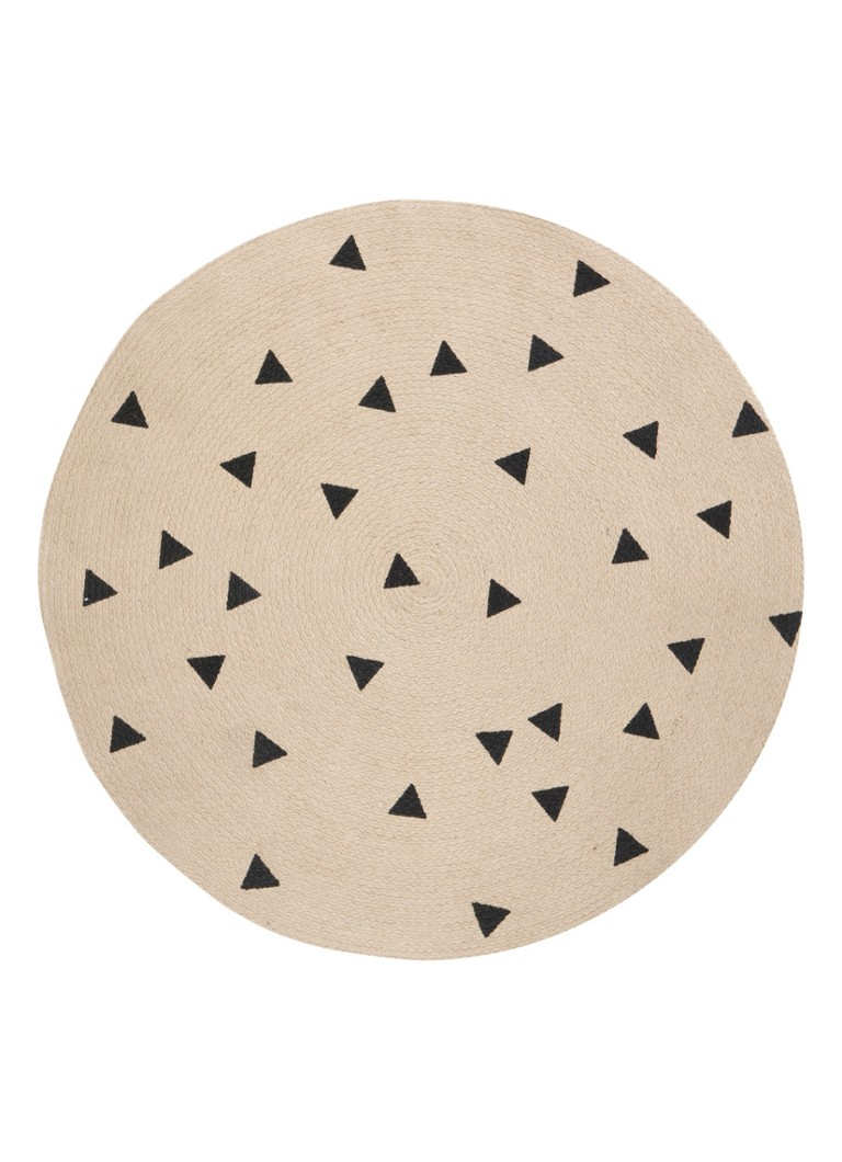 Ferm Living - Black Triangles vloerkleed 100 - Creme