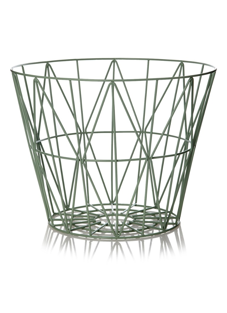ferm living wire medium basket 50 cm de bijenkorf. Black Bedroom Furniture Sets. Home Design Ideas