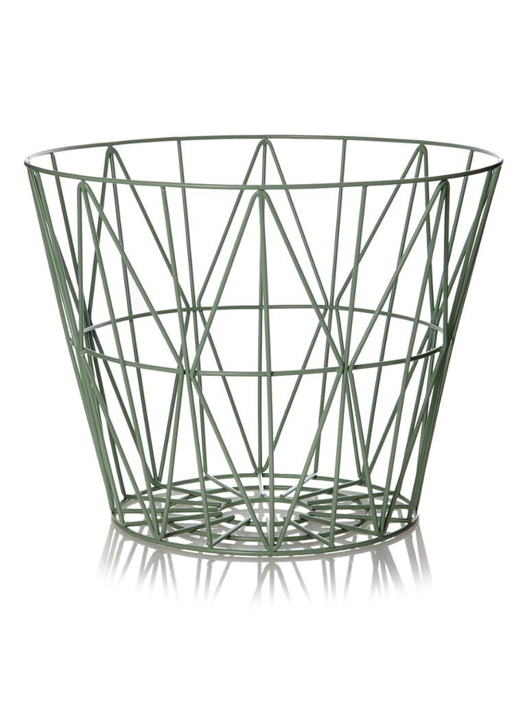 ferm living wire medium basket 50 cm de bijenkorf. Black Bedroom Furniture Sets. Home Design Ideas