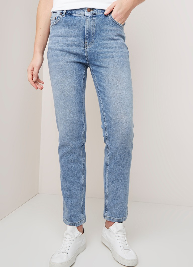 Fifth House - Boy high waist straight fit cropped jeans met stretch - Indigo
