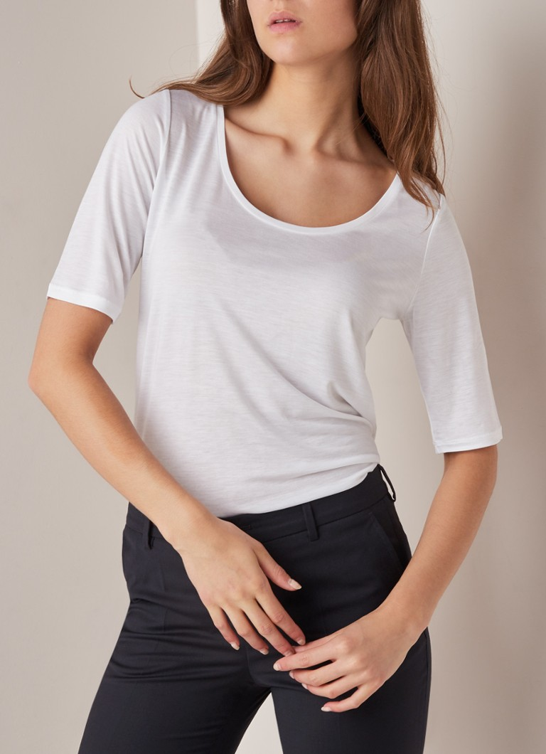 a1126f45f59 Filippa K Losvallend T-shirt met halve mouw • de Bijenkorf
