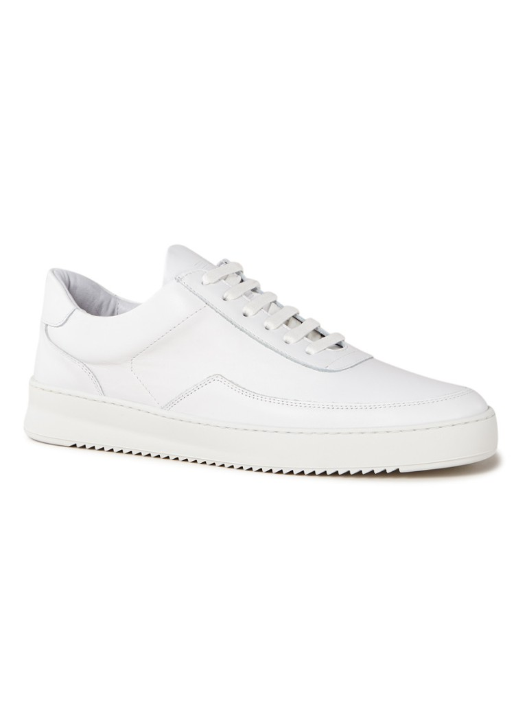 Filling Pieces - Low Mondo Ripple Nardo sneaker van leer  - Wit