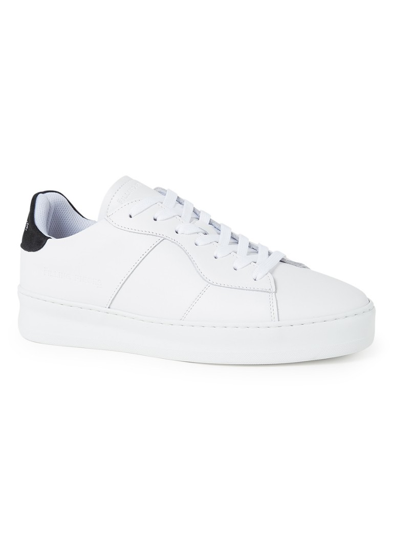 Filling Pieces - Low Plain Court sneaker van leer - Wit