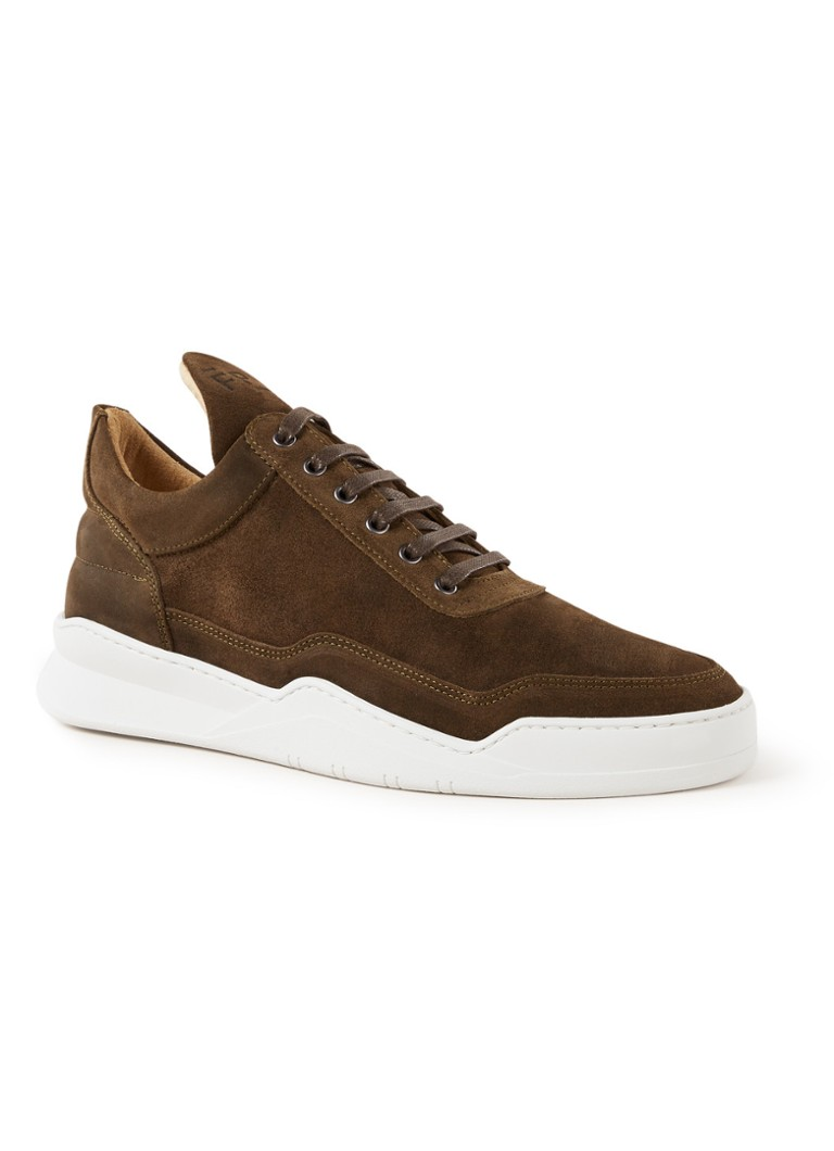 Filling Pieces - Low Top Ghost sneaker van suède - Donkerbruin