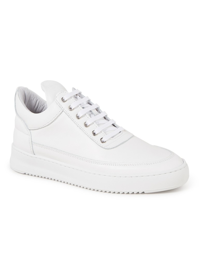 Filling Pieces - Low Top Ripple sneaker van lamsleer - Wit
