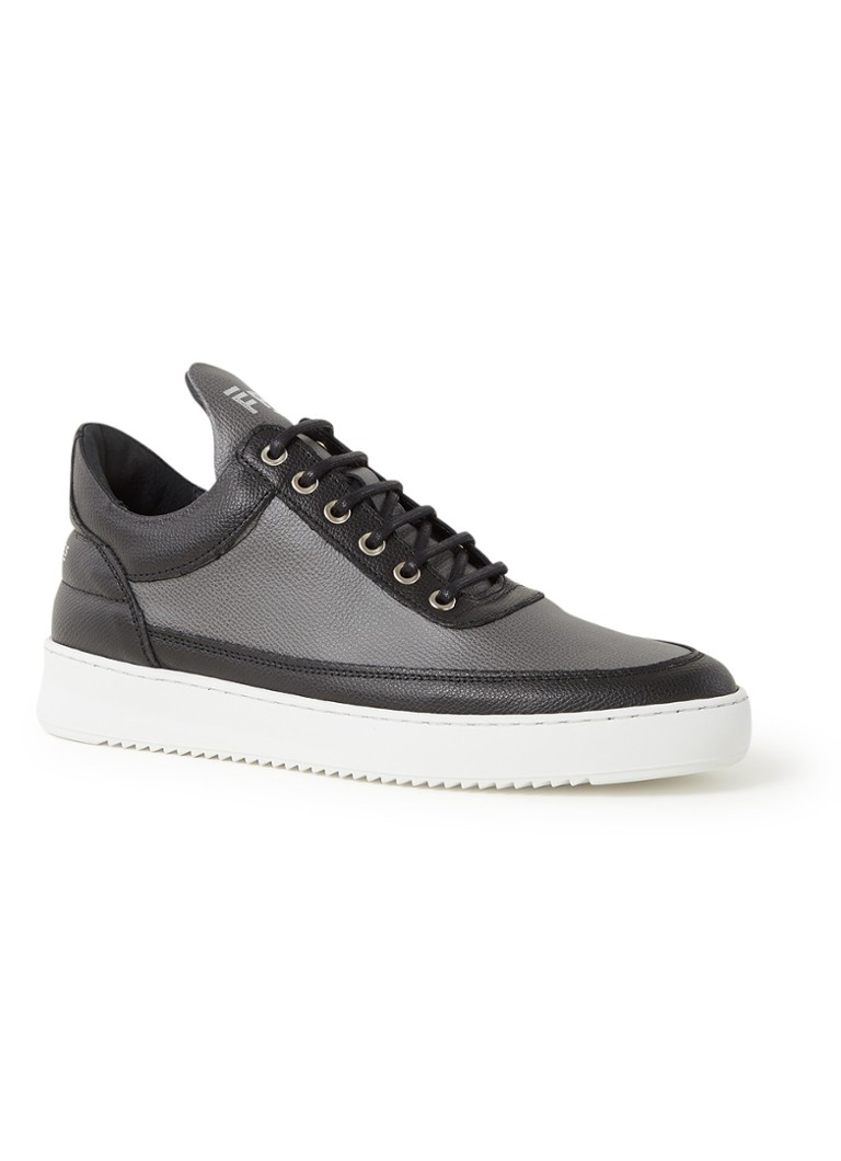 Filling Pieces - Low Top Ripple sneaker van leer - Middengrijs