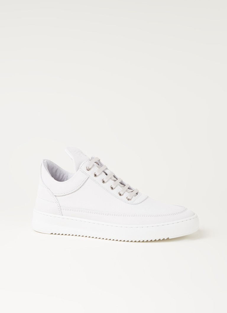 Filling Pieces - Low Top Ripple Tonal sneaker van nubuck - Wit