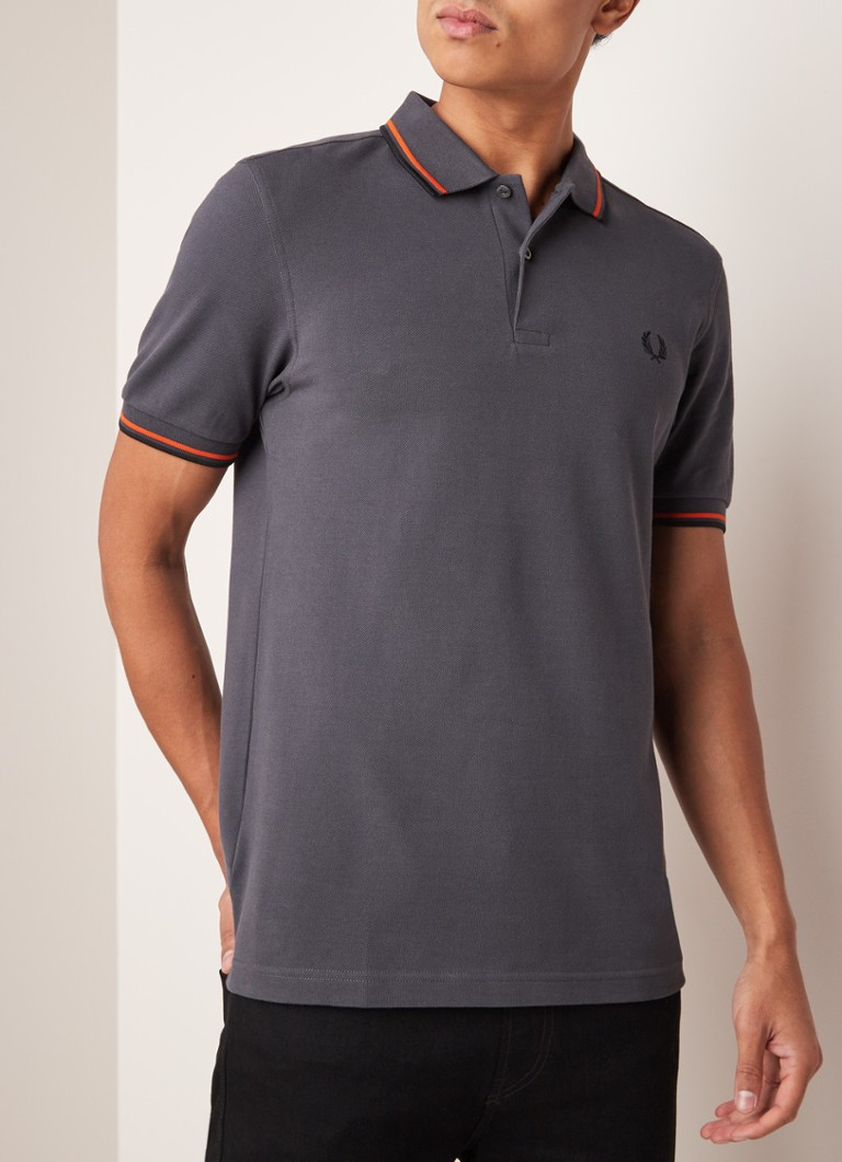 Fred Perry - M3600 regular fit polo met getipte boord - Antraciet