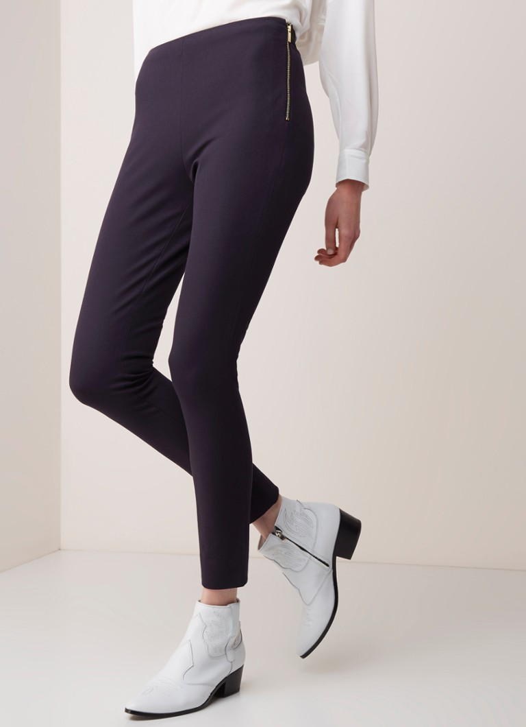 French Connection - French Connection High waist skinny fit cropped pantalon met stretch - Donkerblauw
