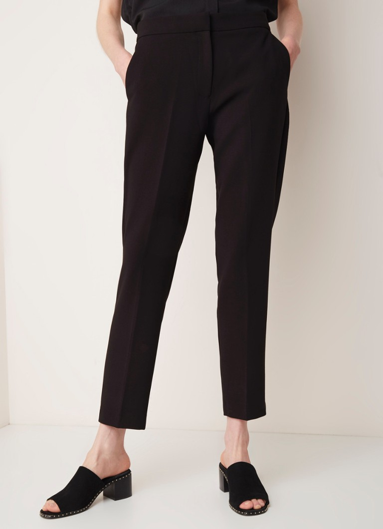 French Connection - French Connection Ruth high waist tapered fit cropped pantalon - Zwart