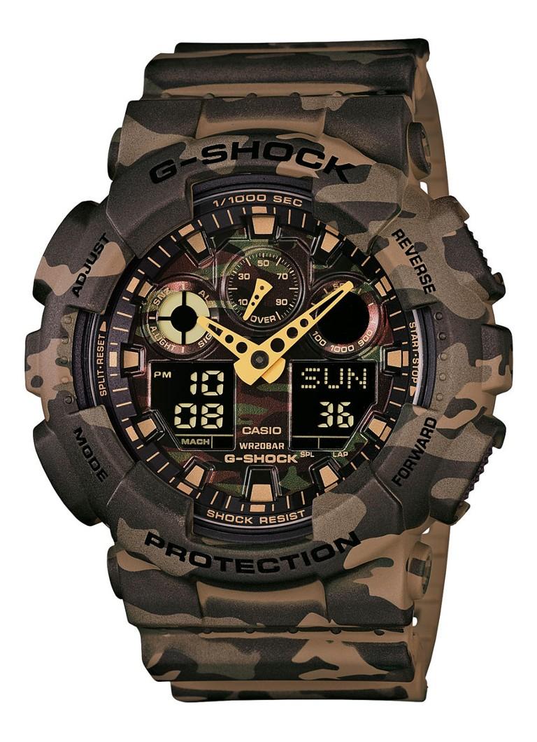 g shock horloge camouflage ga 100cm 5aer de bijenkorf. Black Bedroom Furniture Sets. Home Design Ideas