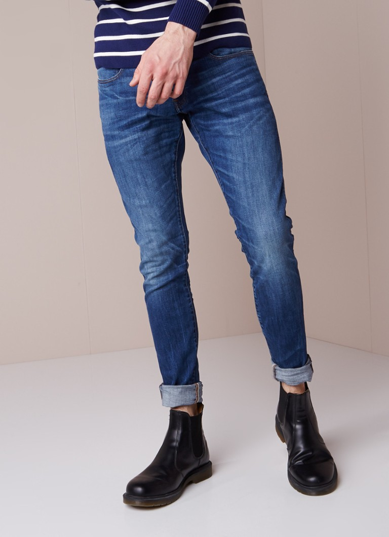 G-Star RAW - 3301 Deconstructed mid rise super slim fit jeans - Indigo