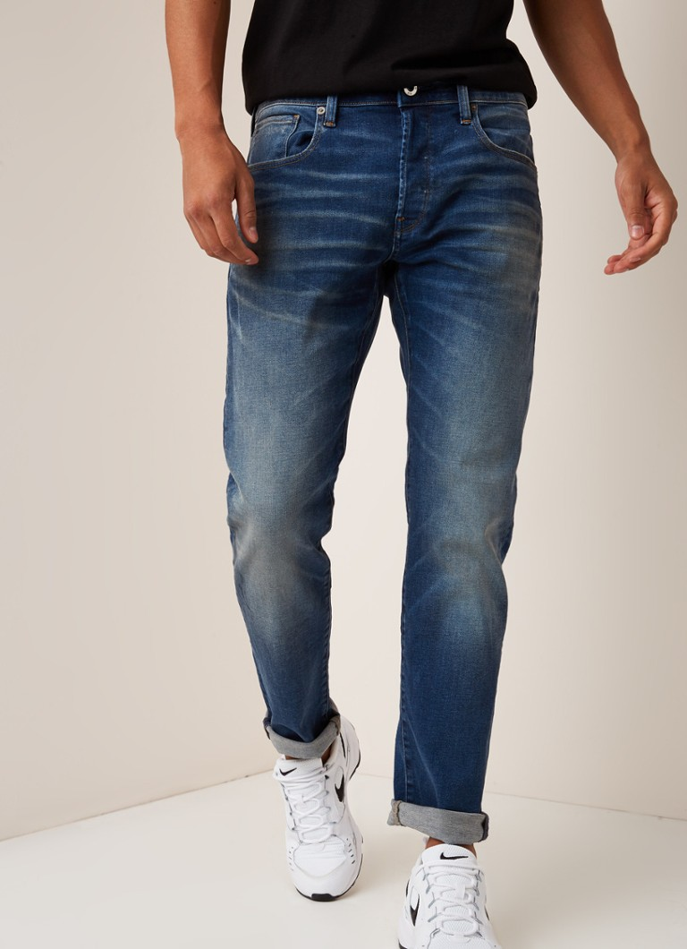 G-Star RAW - 3301 slim fit jeans met strech - Indigo