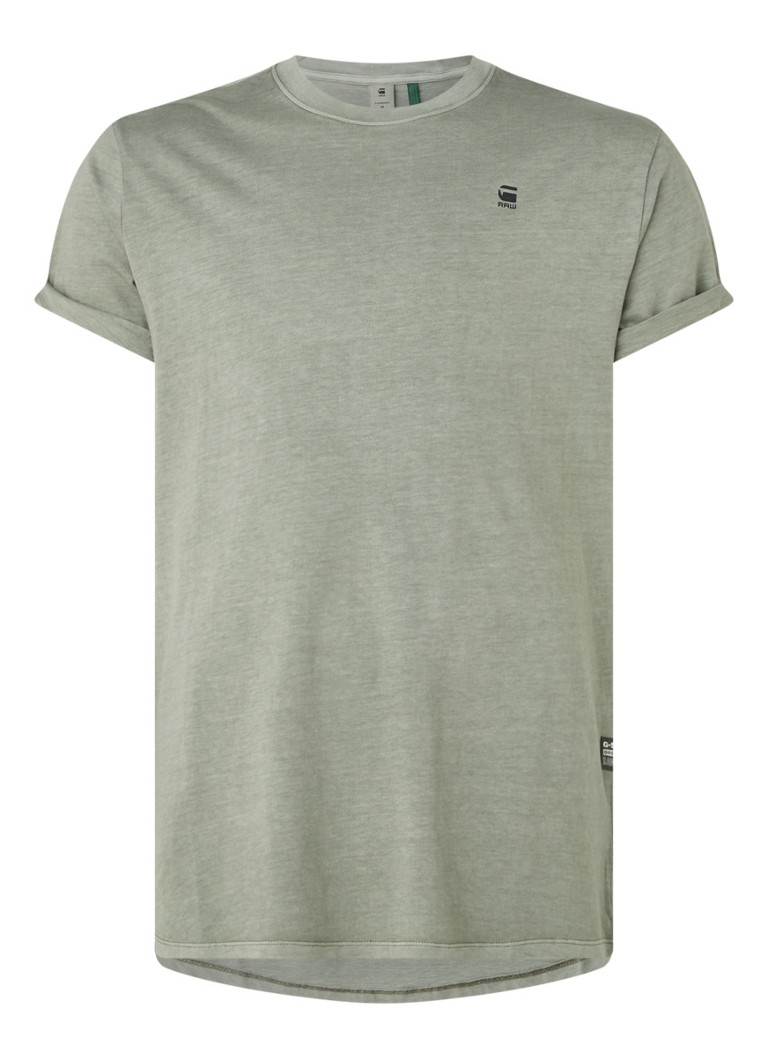 G-Star RAW - Lash T-shirt in gerecycled polyesterblend - Lichtbruin