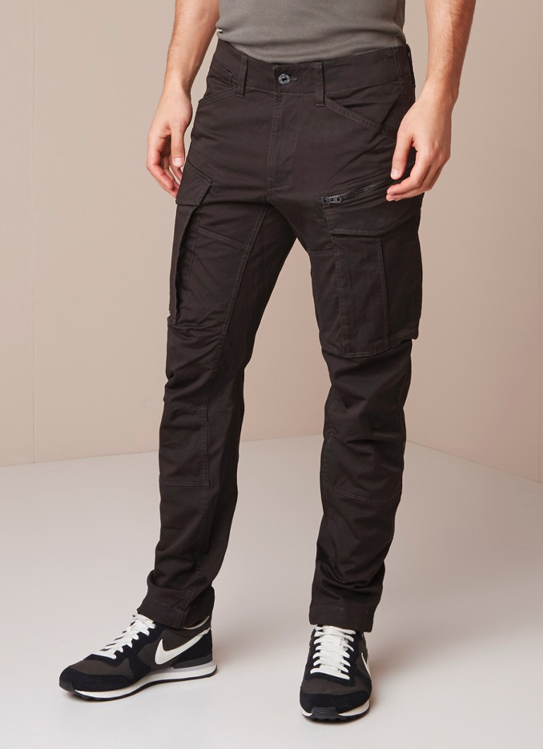 G-Star RAW - Rovic tapered fit cargobroek in katoenblend - Donkergrijs