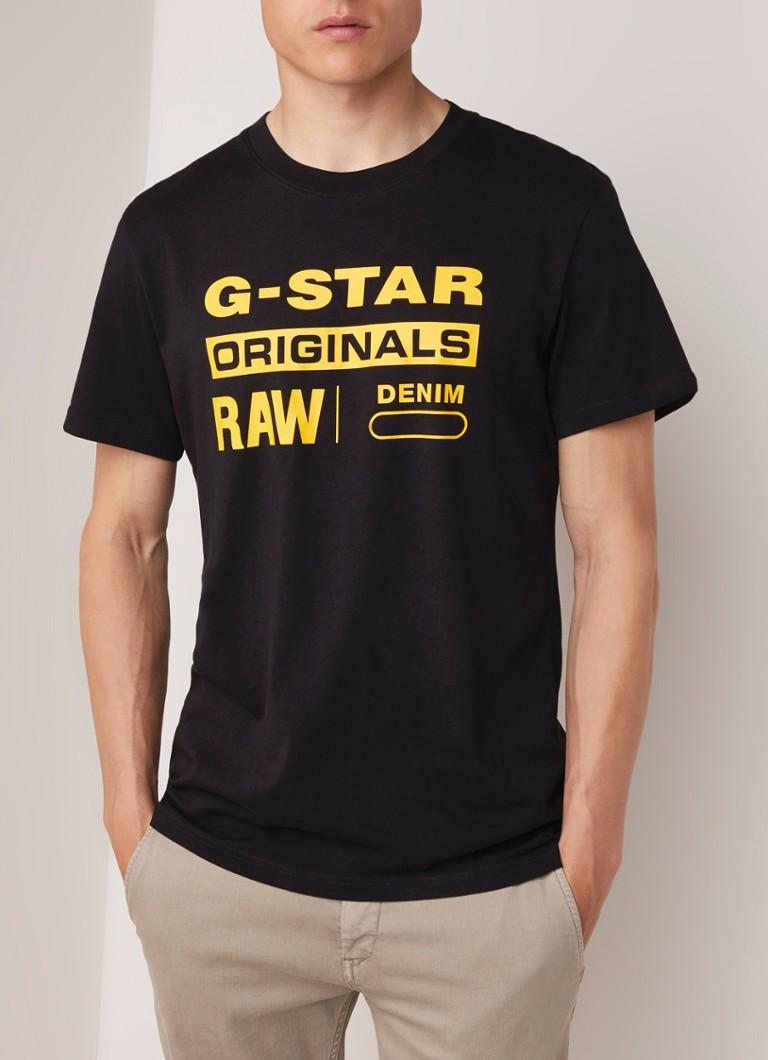 the best attitude f5e81 082d8 G-Star RAW T-shirt met logoprint • de Bijenkorf