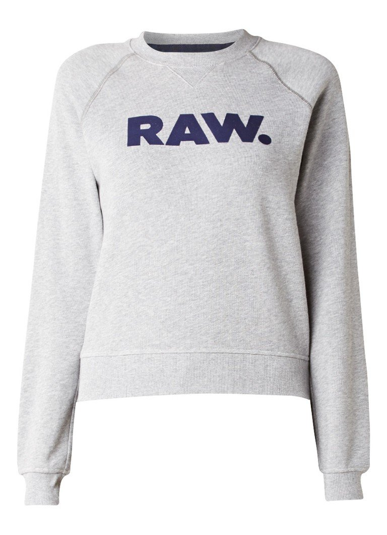 g star raw xula sweater met logo de bijenkorf. Black Bedroom Furniture Sets. Home Design Ideas