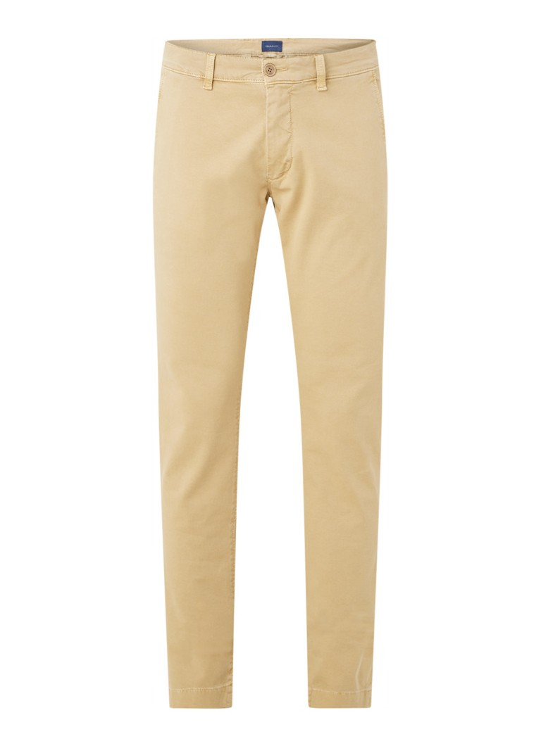 Gant - Slim fit chino met stretch - Zand