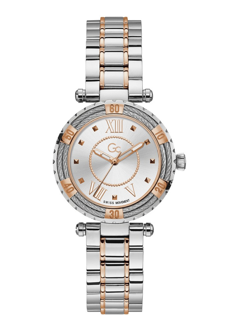 Gc Watches - Lady Diver cabel horloge Y41003L1MF - Zilver