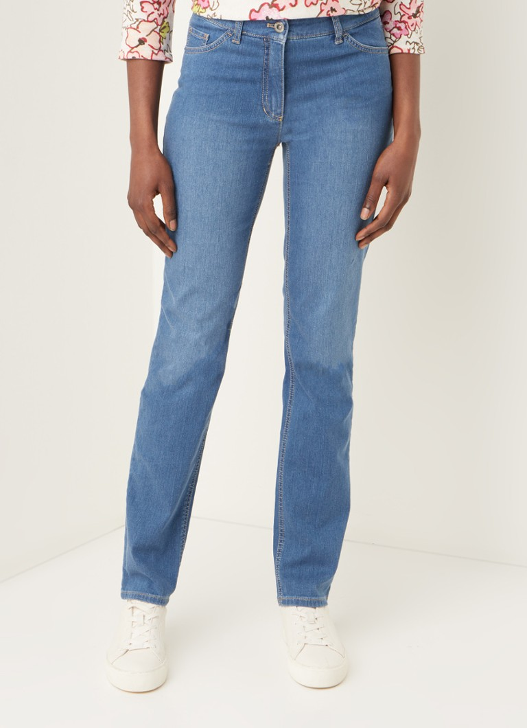 Gerry Weber - Mid waist straight fit jeans met stretch - Indigo