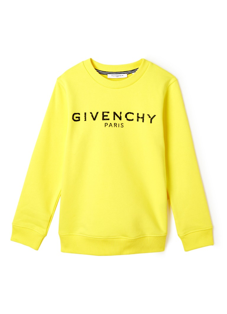 Givenchy - Basic sweater met logoprint  - Geel