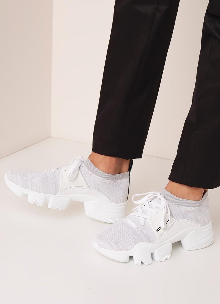 Givenchy - Jaw Sock sneaker met leren details - Wit - voorkant