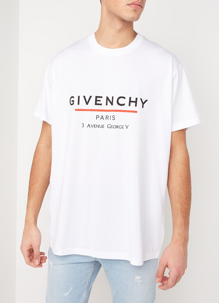 Givenchy - T-shirt met logoprint - Wit