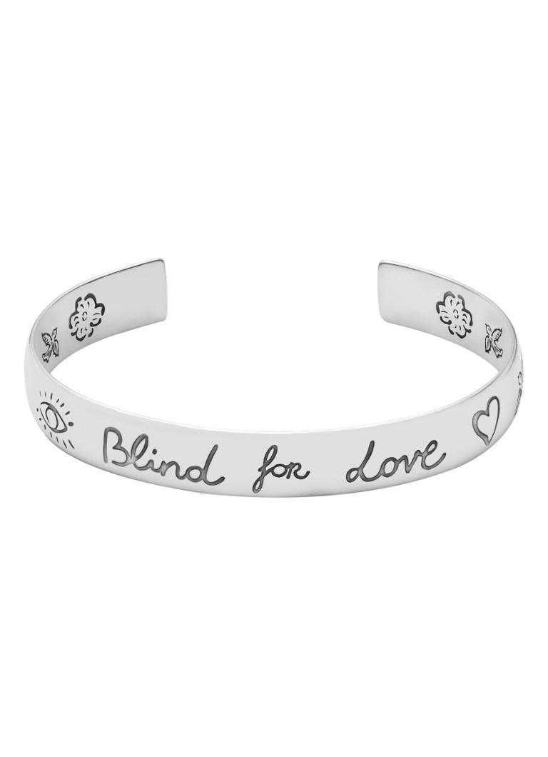 4096dd811f1 Gucci Blind for Love bangle van zilver YBA454287001 • de Bijenkorf