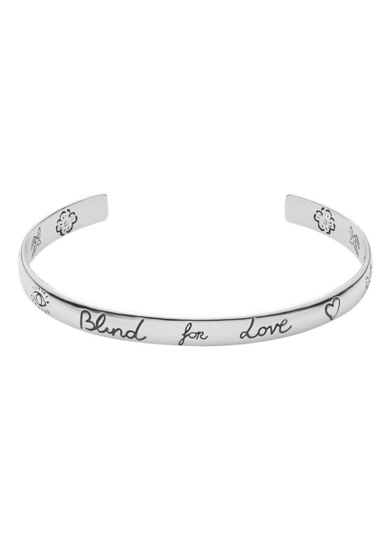 1488cefcd6f Gucci Blind for Love bangle van zilver YBA455242001 • de Bijenkorf