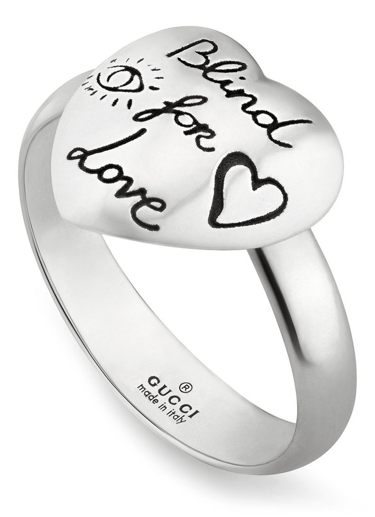 83c99483e58 Gucci Blind For Love ring van zilver J84000701 • de Bijenkorf