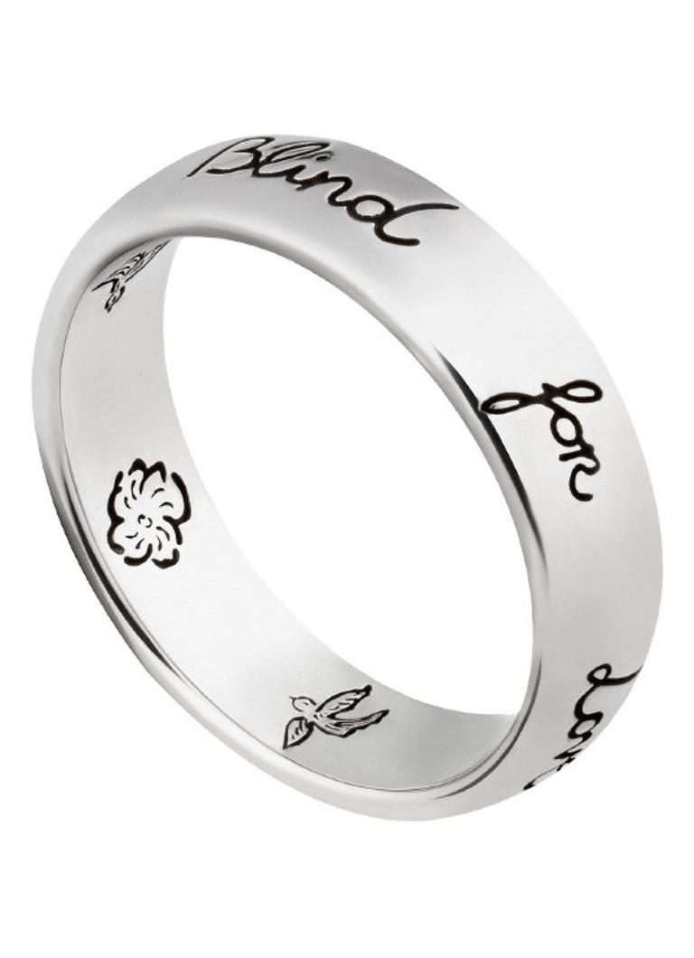 5094b5097d1 Gucci Blind for Love ring van zilver YBC455247001 • de Bijenkorf