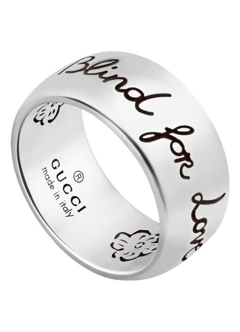 69c4ef823a0 Gucci Blind for Love ring van zilver YBC455248001 • de Bijenkorf