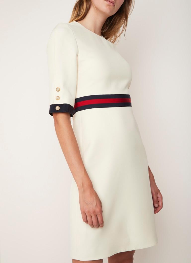 930c854ea91 Gucci Cady A-lijn jurk met streepdetail • de Bijenkorf