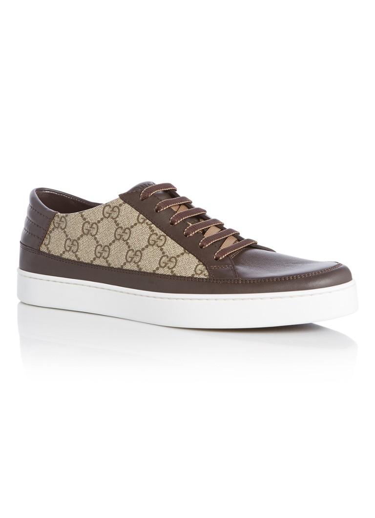 c8f68238dcd619 Gucci GG Supreme sneaker met leren details • de Bijenkorf