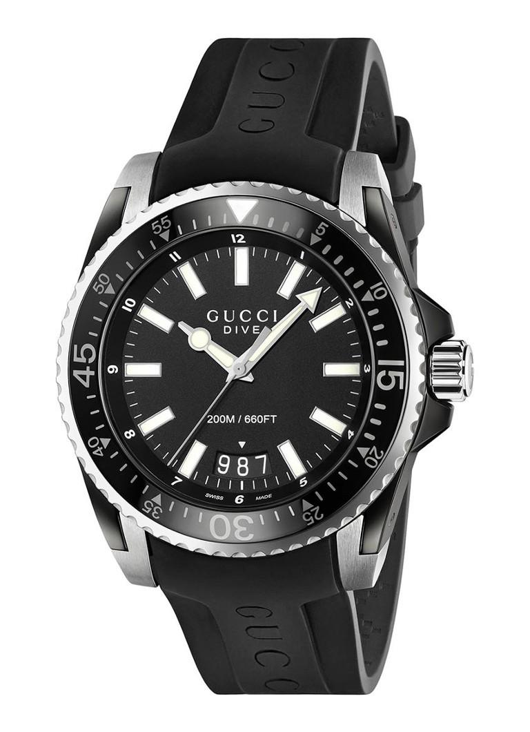 Gucci Horloge Dive Ya136204 De Bijenkorf