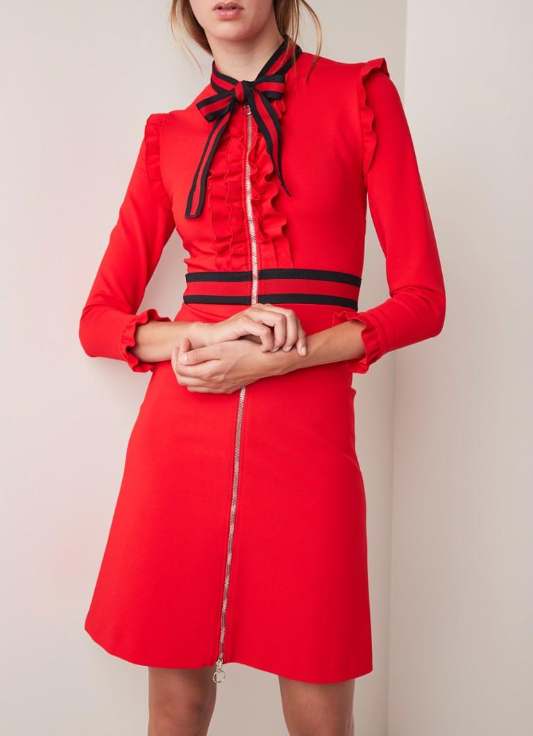 514e7073b87 Gucci Jers A-lijn jurk met ruches en streepdetail • de Bijenkorf