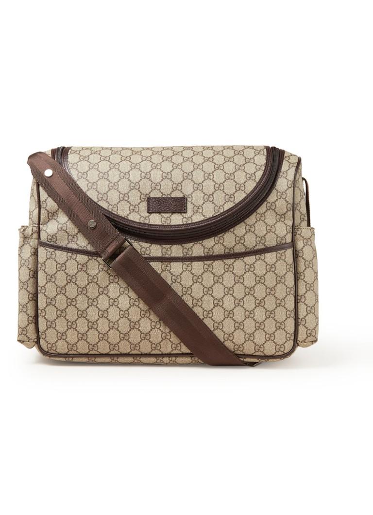 7009c6a5225 Gucci Luiertas met logodessin en verschoningsmatje • de Bijenkorf