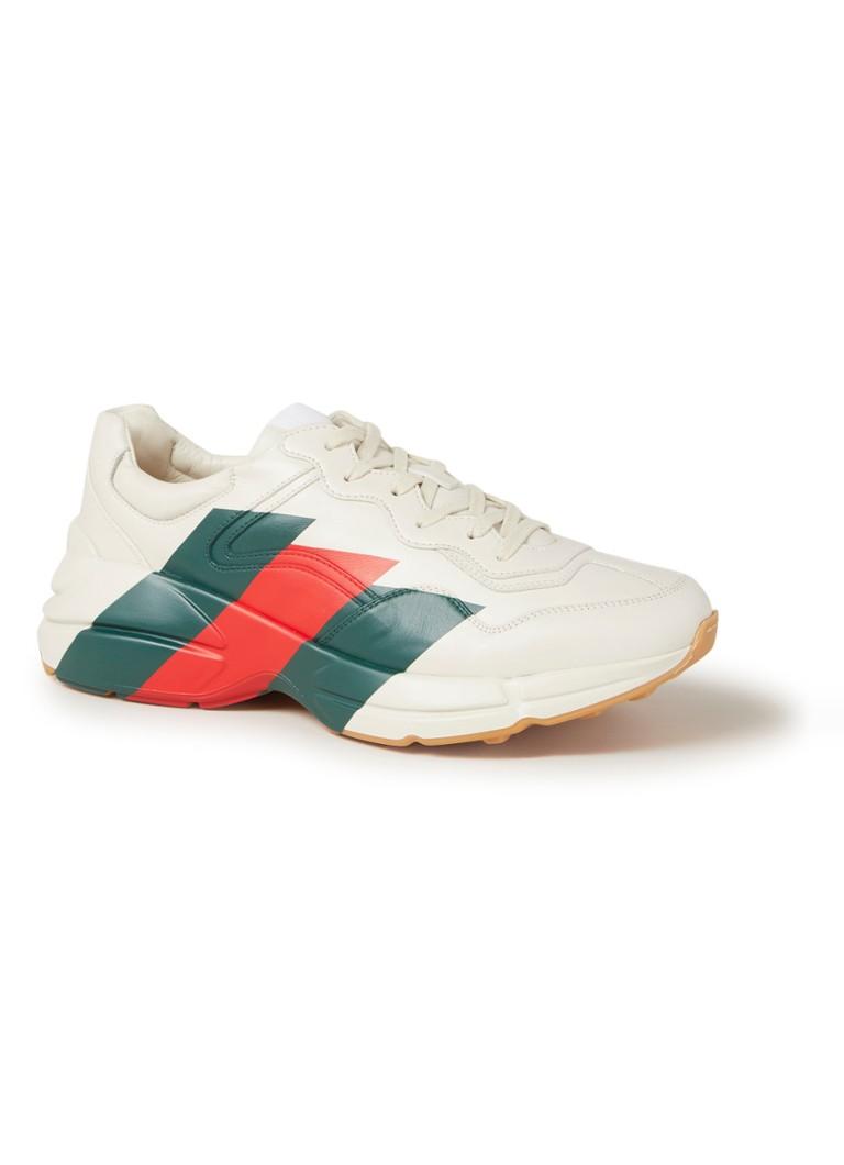 7409bdde268 Gucci Rhyton sneaker van leer met logo • de Bijenkorf